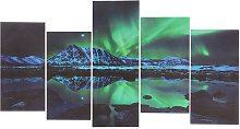 Framed Aurora Borealis Abstract Picture Canvas