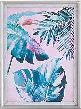Framed Wall Art 30 x 40 cm Palm Leaf Pattern Print