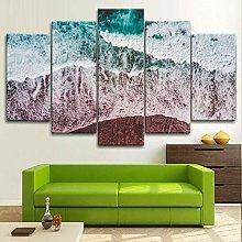 Framed Wall Art 5 Piece Canvas Art Beach Shore
