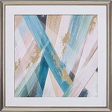 Framed Wall Art 60 x 60 cm Abstract Pattern Print