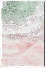 Framed Wall Art 63 x 93 cm Abstract Pattern Print