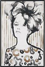Framed Wall Art 63 x 93 cm Retro Woman Print on