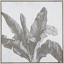 Framed Wall Art 83 x 83 cm Palm Leaf Pattern Print