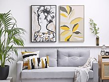 Framed Wall Art Black and Brown Print on Paper 63