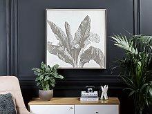 Framed Wall Art Brown Print on Paper 83 x 83 cm
