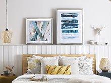Framed Wall Art Multicolour Print on Paper 60 x 60