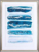 Framed Wall Art Print Blue and Brass Frame