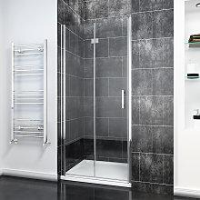Frameless Bifold Shower Door 800mm Reversible
