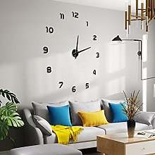 Frameless Large 3D DIY Wall Clock Acrylic