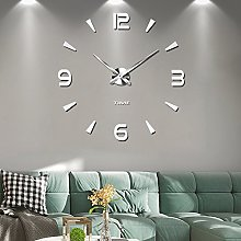 Frameless Large 3D DIY Wall Clock Mute Mirror