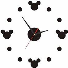 Frameless Large 3D DIY Wall Clock Silent Ticking
