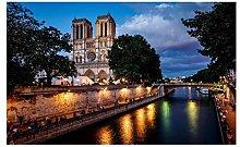 France Paris River Building Night View 5D DIY