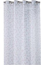 France Sky Panel Curtain, Polyester, grey/pink,