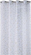 France Sky Panel Curtain, Polyester, grey/yellow,