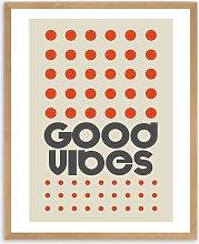 Frances Collett - 'Good Vibes' Framed