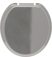 FRANDIS 191401 Grey Plastic Toilet Seat