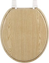 FRANDIS 191408 Pine Wood White Plastic Toilet Seat