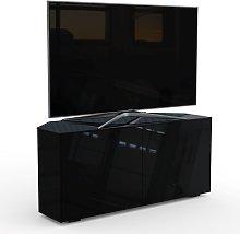 Frank Olsen Smart 2 Door Corner TV Unit - Black