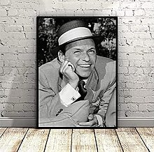 Frank Sinatra Black And White Wall Art Poster And