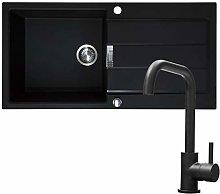 Franke 1.0 Bowl Black Reversible Composite Kitchen
