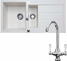 Franke 1.5 Bowl Cream Reversible Kitchen Sink