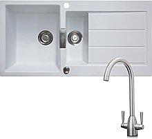 Franke 1.5 Bowl White Reversible Composite Kitchen
