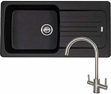 Franke Aveta 1.0 Black Tectonite Kitchen Sink and