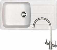 Franke Aveta 1.0 Bowl White Tectonite Kitchen Sink