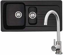 Franke Aveta 1.5 Bowl Black Tectonite Kitchen Sink