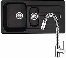 Franke Aveta 1.5 Bowl Black Tectonite Sink &
