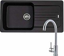 Franke Aveta 1 Bowl Black Tectonite Kitchen Sink &