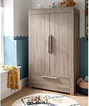Franklin 2 Door Nursery Wardrobe with Drawer -