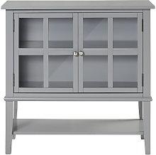 Franklin Grey 2 Glass Door Storage Cabinet