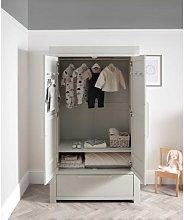 Franklin Nursery Wardrobe - White Wash