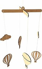 Fransande Wooden Hot Air Balloon Wind Chime