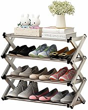 Free Installation of Metal Shoe Rack, Multi-Layer