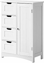 Free Standing Bathroom Cabinet With 4 Drawers And