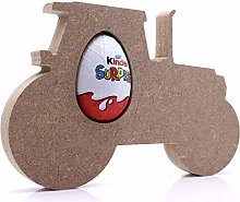 Free Standing MDF Tractor Kinder Egg Holder - 18mm