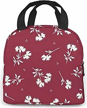 Freehand Drawing Rose Lunch Bag Cooler Bag Women