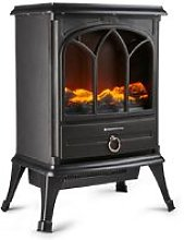 Freestanding 1800W Electric Stove Heater Fireplace