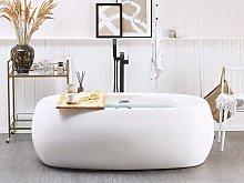 Freestanding Bath with Whirlpool White Sanitary