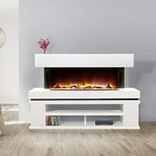 Freestanding Elecrtic Fireplace Heating Remote