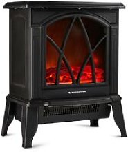 Freestanding Electric Stove Heater 1800W Fireplace