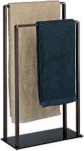 Freestanding Towel Rack, 2 Rails, Modern, Metal,