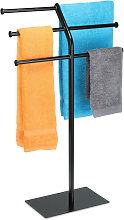 freestanding towel rack with 3 rails, 3 bars for 6