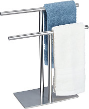freestanding towel stand with two rails, no-drill