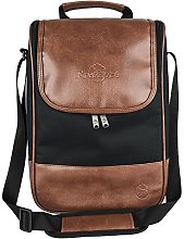 Frehore Wine Leather Tote Cooler Insulated Bag -