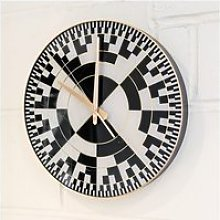 Frelick Wall Clock In Black And White With