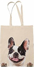 French Bulldog Tote Reuseable Shopping Bag Novelty