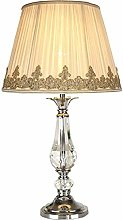 French French Crystal Table Lamp Home Living Room